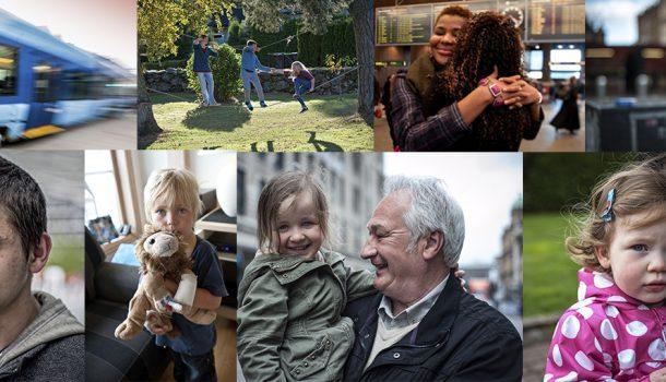 En kolasje med barn og unge som Kirkens Bymisjon jobber med og for. Bilde